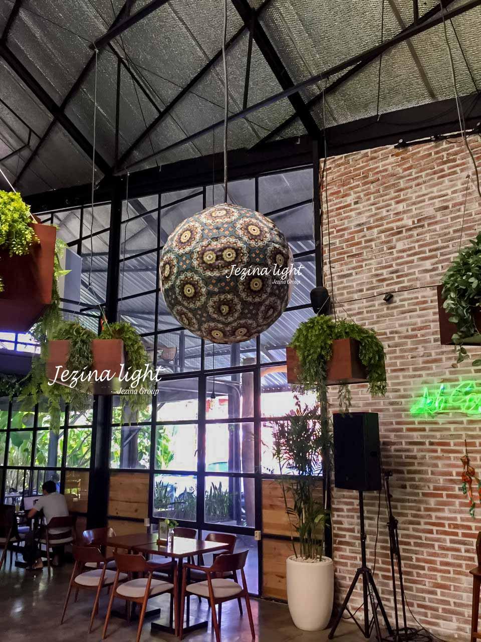 Dekorasi Lampion untuk Restoran Bapak Mukti Denpasar